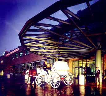 Crowne Plaza Entrance by Carriage